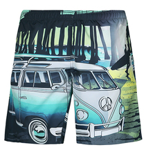 California Life shorts Hip Hop skateboard 3D print cartoon bus bridge Men's quick-drying casaul Sugan shorts plus size S-XXL