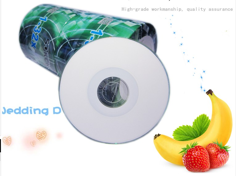 8cm High quality unmarked printable mini empty / blank record CD disc / disk for CD-R 32X 215MB/25MIN 100PCS(China)