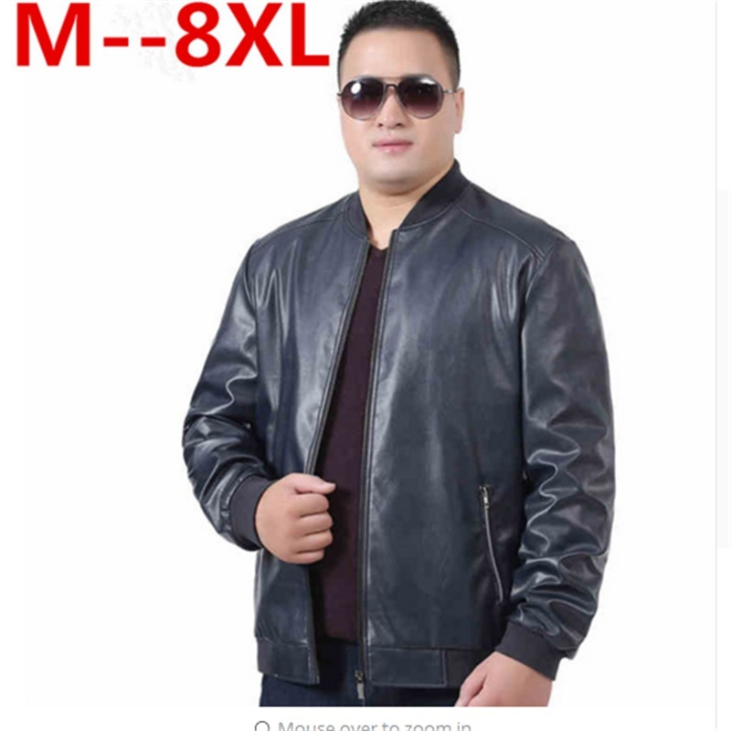 Plus size 10xl 8xl 6xl 5xl 4xl autumn winter men leather jacket brand clothing motorcycle jacket quality male leather coat men