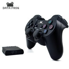 Data Frog Wilreless Gamepad With Handle Receiver 2.4GHz Controller Joystick Joypad For Sony Playstation PS2 High Quality(China)