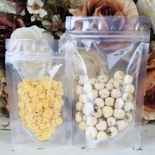 50pcs 9cm*14cm 50pcs Clear Plastic Bags Stand Up Pouch Zipper Top Lock Style Also Can Be Heat Sealed Packaging Bags