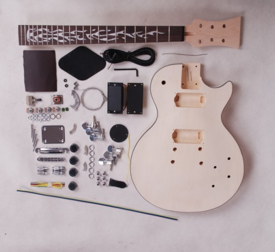 G-USA LP electric guitar kits /DIY guitar mahogany body maple neck do your want the guitar including all the parts(China (Mainland))