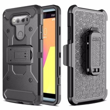 Buy LG G6 G 6 PC + Silicone Anti Impact Heavy Duty Rugged Military Army Tough Case LG G6 Outdoor Belt Clip Strap Cover Cases for $10.99 in AliExpress store