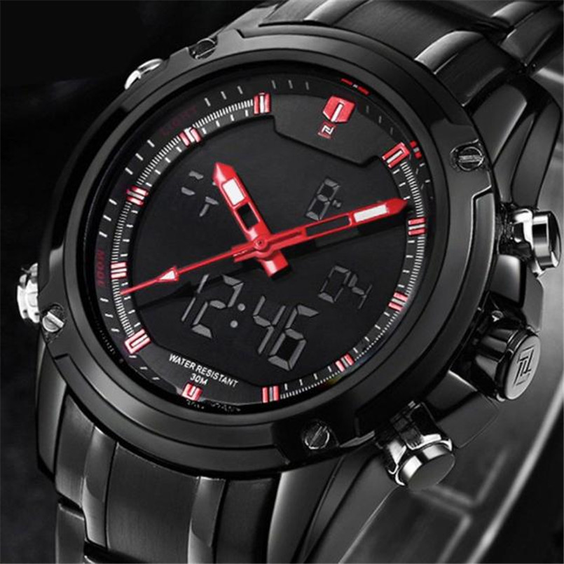 Top Men Watches Brand Mens Quartz Hour Analog LED Sports Watch Men Army Military Multi-function Wrist Watch Relogio Masculino<br>