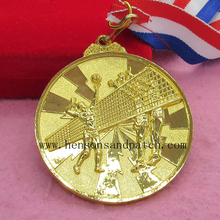 Custom best quality sports meet gold silver bronze medal/ Olympics medal /volleyball match medals(China)