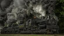 Trains steam locomotives dust railways wheels Maryland USA nature trees grass smoke 4 Sizes picture Canvas Poster Print