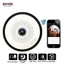 DAYTECH 960P Wireless IP Panoramic camera WiFi Security 360 view angel Fish Eye IR-Cut Night Vision Two Way audio iOS Android(China)