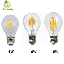 LightInBox   Led filament bulb clear grass edison light bulbs led lighting 110/240V  1pcs 2W 4W 6W 8W A60 E27