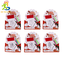 huiying Brand Children Christmas painted socks gifts Childhood Fun 6 Style Christmas Hand Painted Socks Child Education Fun Toys(China)