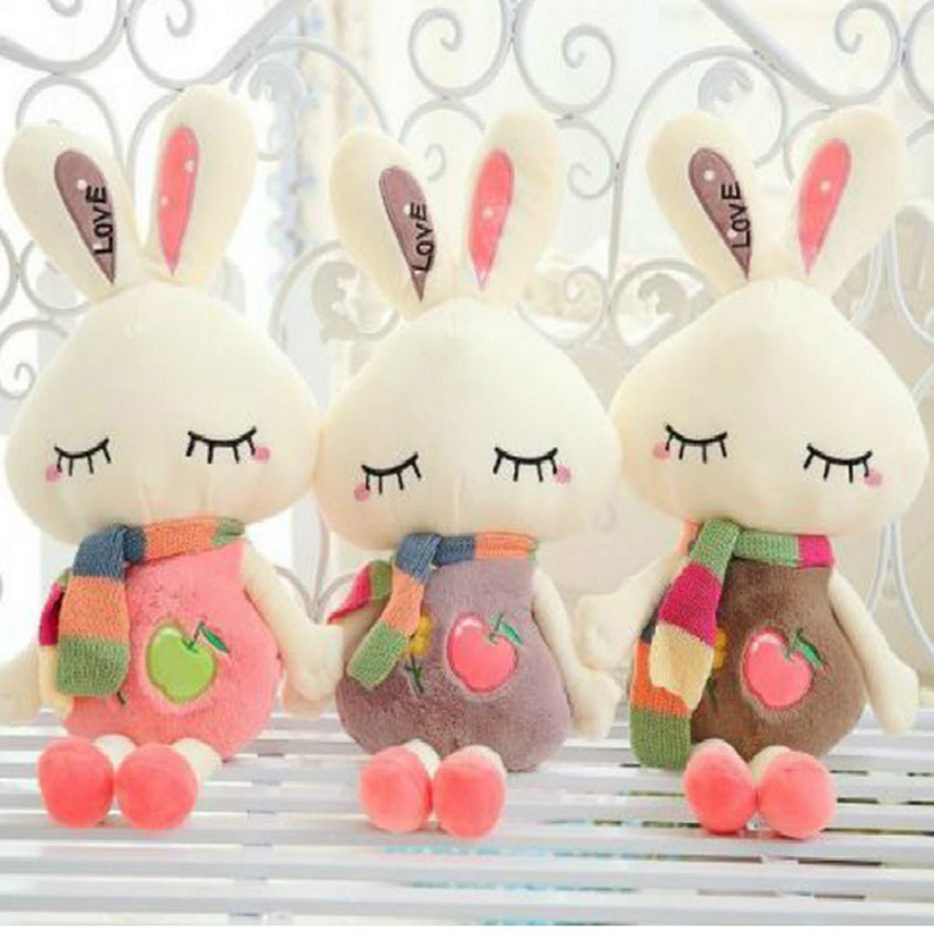 45cm New Cute Rabbit Plush Toys Doll Soft Cute Animal Stuffed Animals Rabbit  Toys Gifts For Children Toys For Baby<br><br>Aliexpress