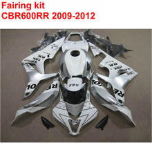 Injection mold Customize Fairing kit for HONDA cbr600rr 2009 2010 2011 2012 CBR 600 RR 09-12 silver white REPSOL fairings LK52