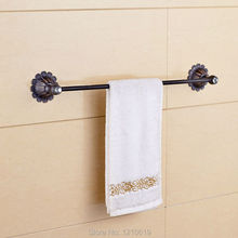 Newly Crystal Bath Towel Bar Holder Towel Rail Single Tier Oil Rubbed Bronze Towel Rack Shelf Wall Mount