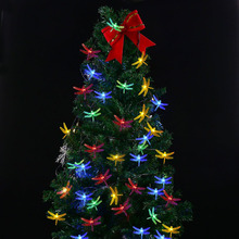 Linkax Solar Powered Outdoor String Lights Dragonfly, 60m 30 Leds Starry Lighting christmas decorations for home Garden Light
