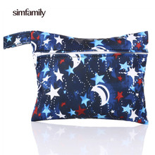 [simfamily]1Pc Mini Small Wet Bags Reusable Waterproof Wet Bag Pouch For Nursing Pads Menstrual Pads Stroller Mini Diaper Bags