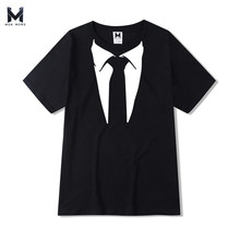 2017 Summer 100% Cotton Fashion 3D Tie Printing T shirt men Lovely Shirt Good Quality Comfortable Brand Mens T Shirts Soft Tops(China)