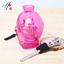 2017 Hotsale Newest Lovely Skull Head Hookah Glass Healthy Smoking Pipes Promotion(China)