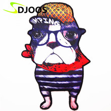 Dog Embroidery Patches for Clothing Tops Jeans Jacket T-Shirt Motorcycle Cartoon Iron-on Patches Stickers Decoration Accessories