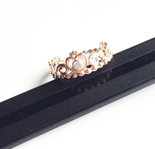 Top Quality Stylish Wedding Rings Crown Cubic Zirconia Rose Gold color Classic Round Fashion gift Jewelry For Anniversary