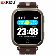 EXRIZU T400 GPS AGPS LBS Smart Watch Touch Screen Heart Rate Monitor SOS Location Tracker Pedometer for Elderly Senior Citizen