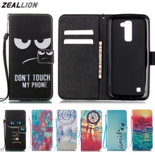 ZEALLION For LG V20 K4 K7 K8 K10 G5 LS775 LS770 G4 Stylus Case Cartoon Wallet Design Magnetic Holster Flip PU Leather Cover