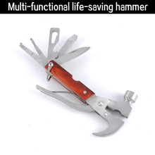 7 in 1 Multifunctional LifeHammer Outdoor Survival Tool Set Car Window Breaker Safety Hammer Vehicle Emergency Tool(China)