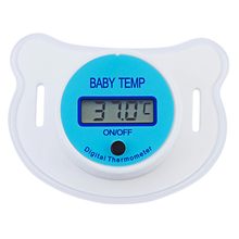 Portable LCD Digital Babies Mouth Pacifier Thermometer Baby Saftly Nipple Thermometer Testa Termometro Baby Pacifier LCD Digital(China)