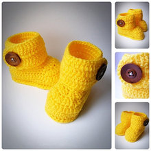 Yellow Crochet Baby Booties,Newborn Crochet Shoes, Crochet Baby Shoes, Boots for babies, Baby shower gift, choose size