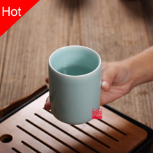 1PCS BIG SALE!!!!! Six Colors Chinese Longquan Celadon Porcelain Kung Fu China Teacup SaucerTea Bowl Chinese Tea Pot Coffee Cup