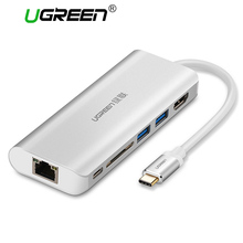Ugreen All in 1 USB C HUB with Type C PD Power 4K Video HDMI SD Card Reader Gigabit Ethernet Adapter USB-C Type-C 3.0 HUB USB(China)