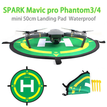 Sunnylife DJI SPARK Foldable Landing Pad Tarmac Parking Apron Landing Parking Field Compass Direction for Phantom 4Pro+ 3 Mavic