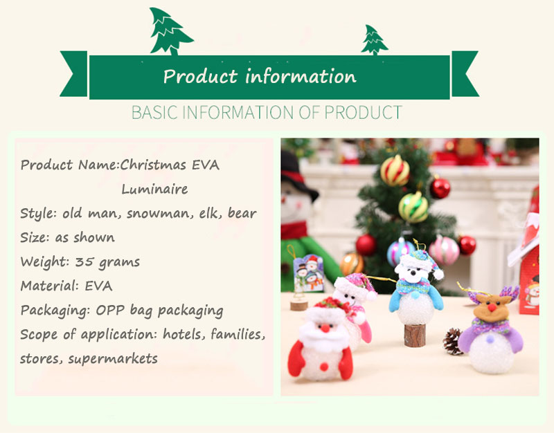 New Year Christmas Decoration for Home accessories Glowing EVA Snowman Nightlight Snowman Christmas Tree gifts Navidad Natal (11)