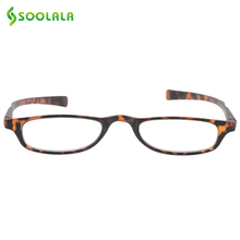 SOOLALA Womens Mens Flat Top Pocket Slim Reading Glasses Lightweight Cheap Rectangular Presbiopia Readers Glasses +1.0 to 4.0(China)
