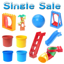 Amusement Park Swing Slide Conduit Big Particles Building Blocks Assemble Baby child Toys Bricks DIY Gifts Compatible with Duplo(China)
