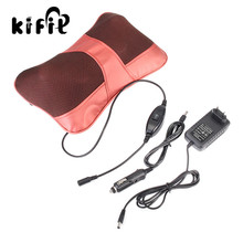 KIFIT Practical Relax Massage Pillow Electric Heat Neck Back Shoulder Cushion Car and Home Health Care Tool(China)