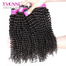 4 Bundles Yvonne Brazilian Kinky Curly Hair,100% Unprocessed Virgin Hair,High Quality Aliexpress Human Hair