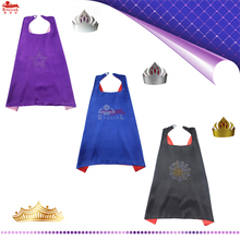 L27* Boys prince linking satin costume cape for Carnival birthday party costume  Christmas Costume for kids Crown  Prince