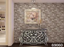 PVC tile vintage wallpaper 3D stereoscopic simulation imitation brick pattern wallpaper stone wall culture(China)