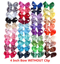 4 inches hair bow WITHOUT clips NO CLIPS hair bow supplier DIY for headbands Boutique hair accessories 40 Colors Available(China)