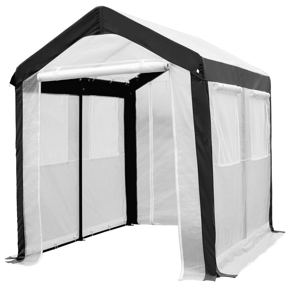 Beautiful Abba Patio 6 X 8 Feet Large Walk In Fully Enclosed Lawn And Garden  Greenhouse With Windows White