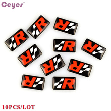 Car-Styling Steering Wheel Epoxy Car Emblem Badge Stickers Decals Case For Seat leon Altea Exeo Formula Racing Car Styling 10pcs