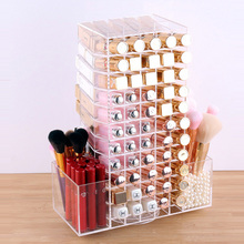 Acrylic Rotating Lipstick Case Holder Cosmetic Organizer Makeup Storage box Display Box Stand Nail Polish Rack Gift for Women(China)