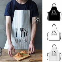 2018 Fashion Unisex Women Men Commercial Waterproof Apron Kitchen Restaurant Apron Cooking Bib Spun Poly Apron with Pocket Brief(China)