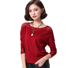 2016 Plus Size Crochet T Shirt Women Sexy 3XL Batwing Black Casual O-Neck Blusa Camisetas Mujer American Apparel Tops MF985632