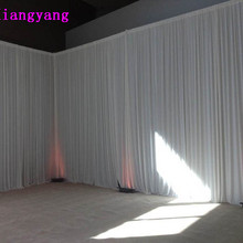 Elegant and luxury pure white wedding backdrop wedding curtain 3m*6m free event party decoration