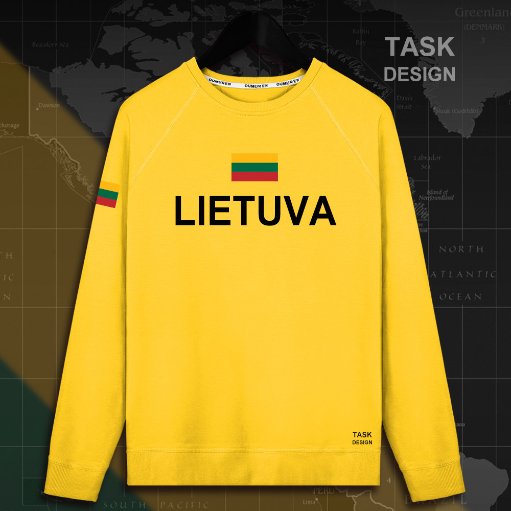 Lithuania Lithuanian LTU Lietuva Lietuvos men hoodie pullovers hoodies men sweatshirt new streetwear clothing Sportswear tracks 5
