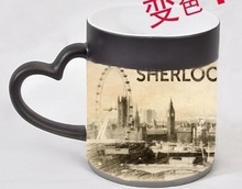 Sherlock Picture Color-Changing Mug Magic Cold/Hot Temperature Sensitive Cup color changing mugs with lid(China)