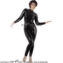 Buy Black Sexy Latex Catsuit Back Crotch Zipper Buttons Rubber Body Suit Catsuit Bodysuit Zentai Overall LTY-0028