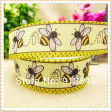 hot sale 7/8''(22mm) BEE Polyester Grosgrain Ribbon,Clothing accessories,DIY handmade materials,2014 new arrive,MD33142