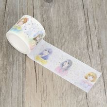 Beautiful Girl Ikon Lady Illustration Women Sketch Masking Tapes DIY Tape Scrapbooking Sticker Decorative Stickers Party Favors