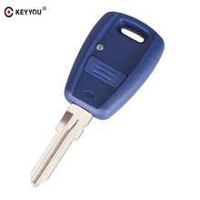 KEYYOU 10X 1 Button Uncut Blade Remote Car Key Shell Case for Fiat Stilo Punto Seicento Flip Fob NO Chip GT15R blade(China)